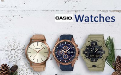 Offrir des montres Casio à Noël