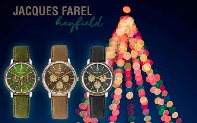 Les montres Jacques Farel Hayfield comme idée-cadeau