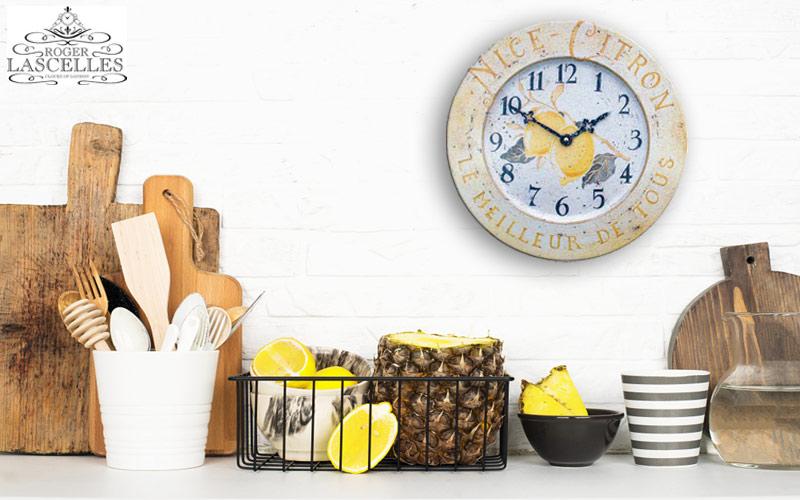 Horloge de cuisine Roger Lascelles TIN/CITRON