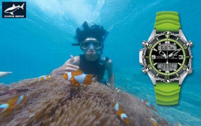 Montre de plongée Chris Benz CB-D200X-G-KBG