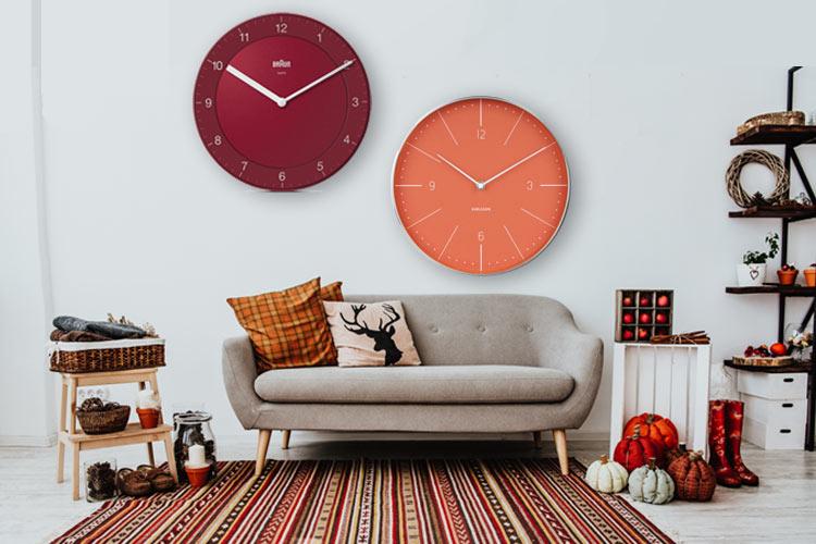 Horloges comme déco automnale