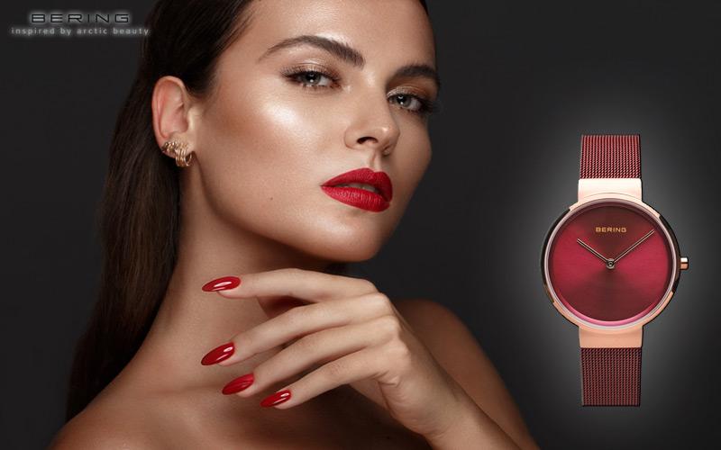 montre-femme-bering-14531-363-en-rouge-classique