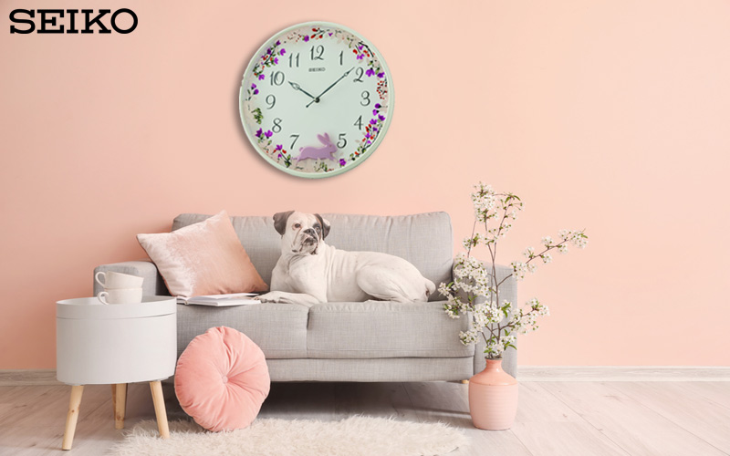 Horloge murale Seiko QXC238W pour les grands et les petits