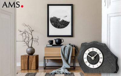 Horloge de table AMS 1104 en ardoise