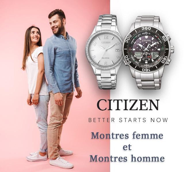 Citizen Montres femme et homme